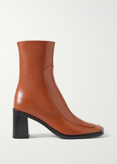 The Row Patch Paneled Leather Ankle Boots