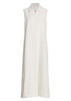 The Row Temmo Stretch-Silk Long-Line Vest