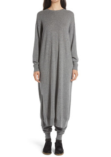 The Row Anibale Long Sleeve Cashmere Maxi Sweater Dress