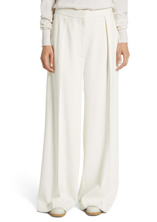 The Row Avril Pleated Compact Cady Wide Leg Pants