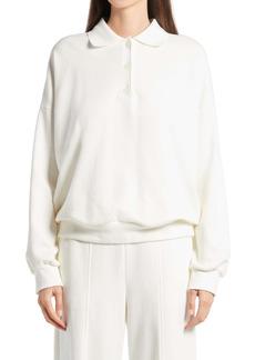 The Row Corzas Cotton Jersey Polo Top