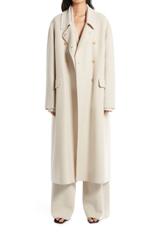 The Row Dilona Double Brushed Cashmere & Wool Coat