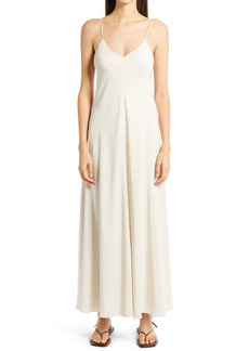 The Row Edi Silk Compact Crepe Maxi Dress