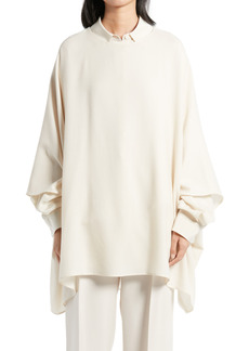 The Row Estela Asymmetrical Wool Crepe Top