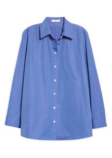 The Row Mario Button-Up Woven Cotton Shirt