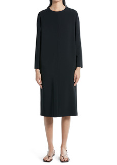 The Row Serena Long Sleeve Techno Midi Dress