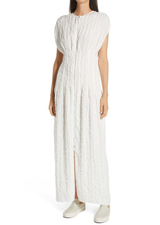 The Row Tamy Long Textured Cloqué Dress