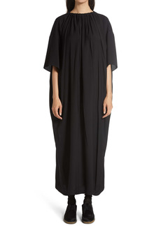 The Row Tobias Gathered Neck Long Dress