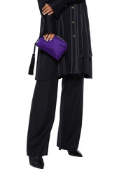 The Row Woman Wristlet Tasseled Satin Clutch Violet