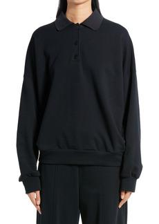Women's The Row Corzas Cotton Jersey Polo Top