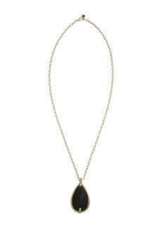 The Sak Onyx Stone Long Teardrop Pendant Necklace