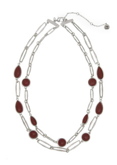 The Sak Red Jasper Station 2-Row Layered Necklace