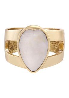 The Sak Teardrop Mother of Pearl Cuff Bracelet