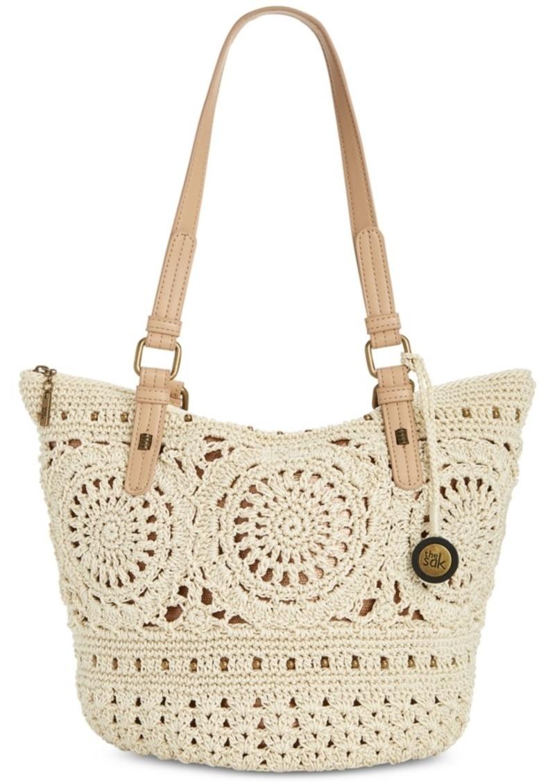 The Sak Silverwood Crochet Shopper