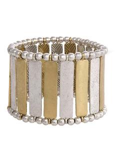 The Sak Two-Tone Bar Stretch Bracelet