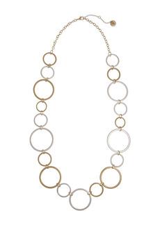 The Sak Two-Tone Long Open Circle Necklace