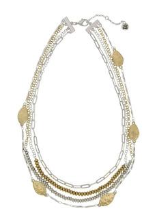 The Sak Two-Tone Multi Layered Necklace