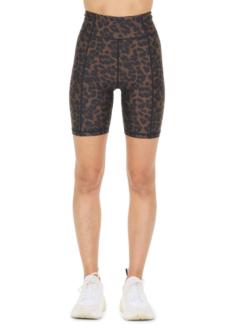 The Upside Signature Leopard Spin Bike Shorts