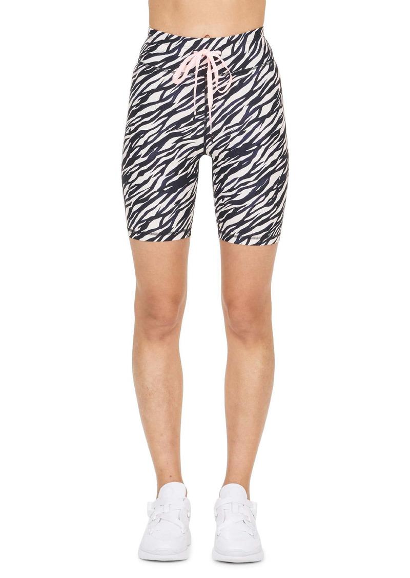 The Upside Zebra Spin Bike Shorts