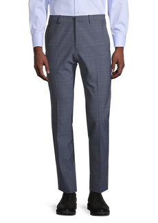 Theory Hudson Jake W-Fit Plaid Trousers