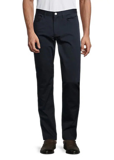 Theory Mid-Rise Stretch-Cotton Pants
