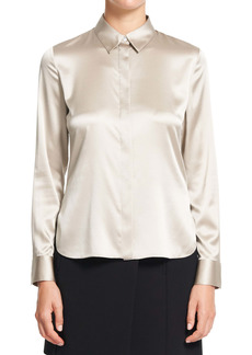 Theory Fitted Stretch Silk Shirt