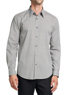 Theory Irving Mini Scale Print Button Up Shirt