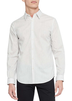 Theory Irving Slim Fit Pixelated Print Button-Up Shirt