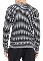 Theory Lewis Cotton Waffle Stitch Sweater