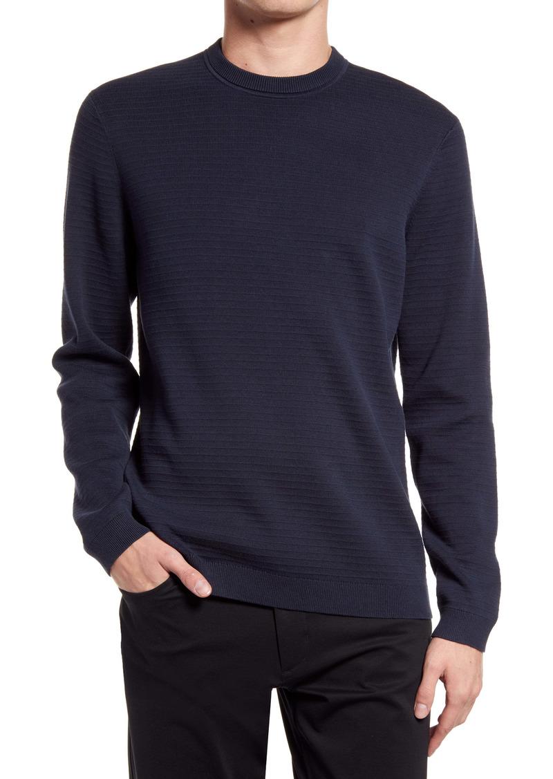 Theory Stone Crewneck Cotton Sweater