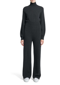 Theory Turtleneck Long Sleeve Wool & Cashmere Jumpsuit