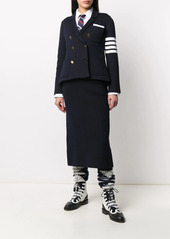 Thom Browne 4-Bar double-face wool double-breasted jacket