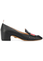 Thom Browne tricolour enamel strap loafers