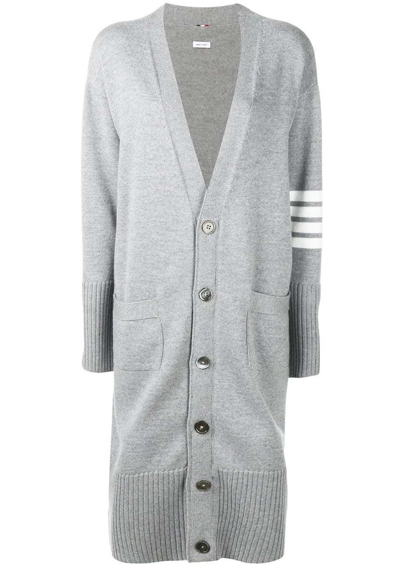 Thom Browne 4-Bar stripe cardi-coat
