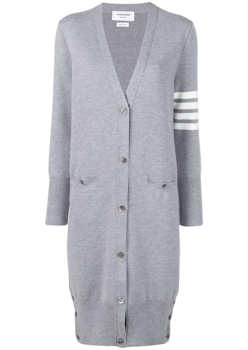 Thom Browne 4-Bar stripe cardi coat