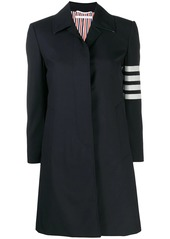 Thom Browne 4-Bar plain weave suiting overcoat