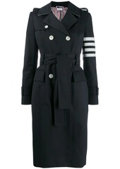 Thom Browne 4-Bar waterproof trench coat