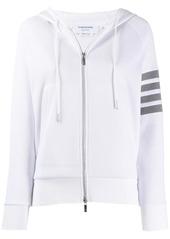 Thom Browne 4-Bar waffle stitch zip-up hoodie