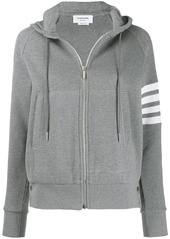 Thom Browne 4-Bar waffle stitch zip-up hoodie