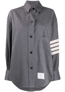Thom Browne 4-Bar oversized shirt jacket