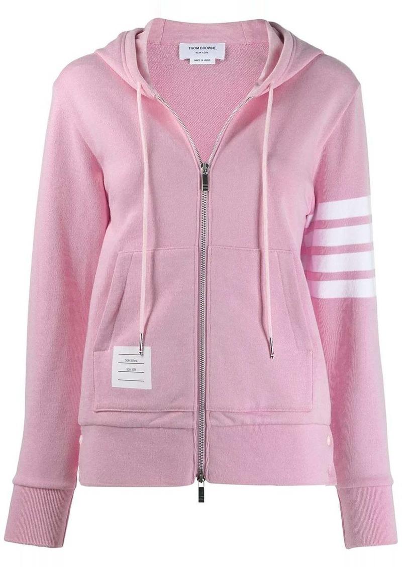 Thom Browne 4-Bar loopback zip-up hoodie