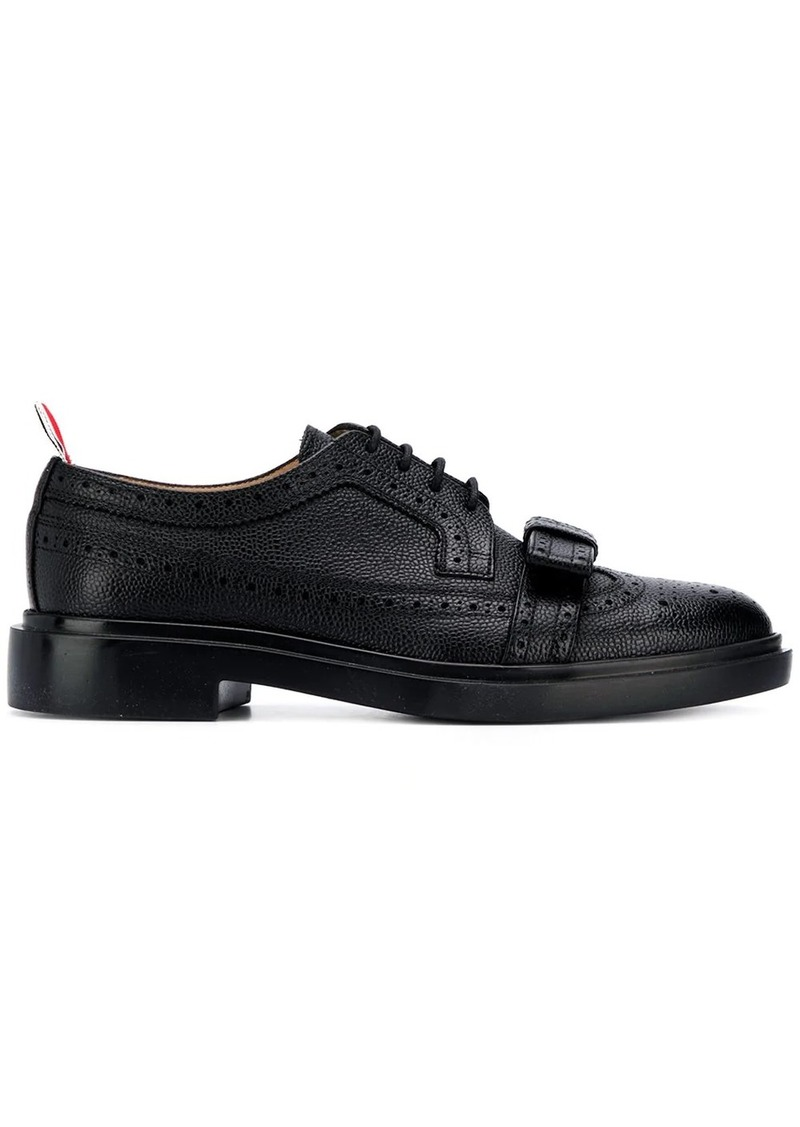 Thom Browne bow-detailing pebbled brogues