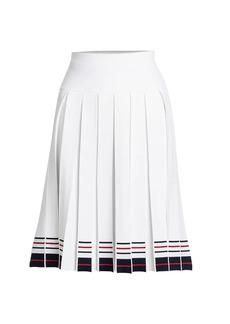 Thom Browne Box Pleated Striped Skirt