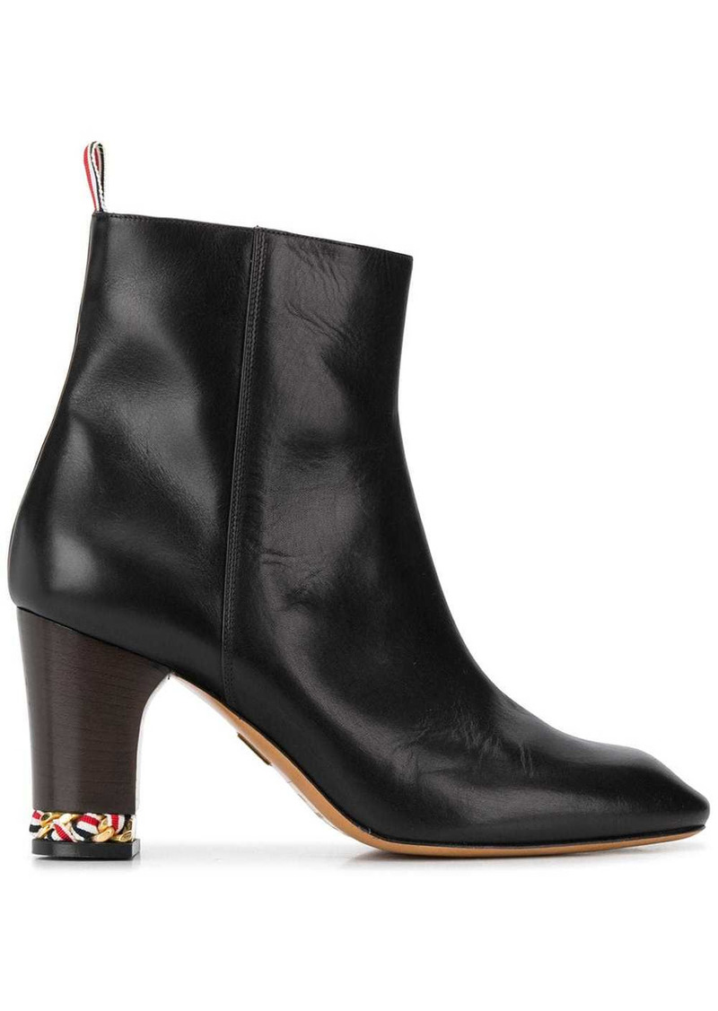 Thom Browne tricolour chain ankle boots