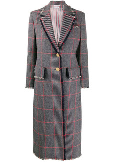Thom Browne check-pattern single-breasted coat
