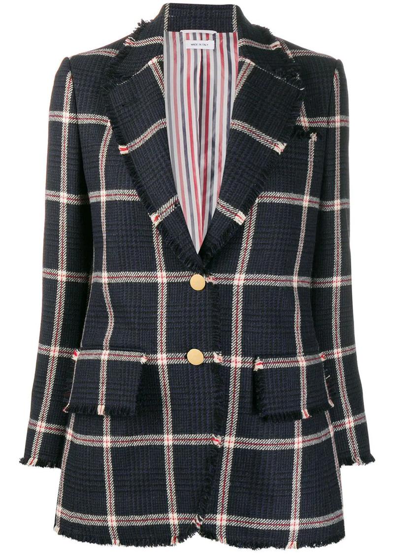 Thom Browne check-pattern tweed blazer
