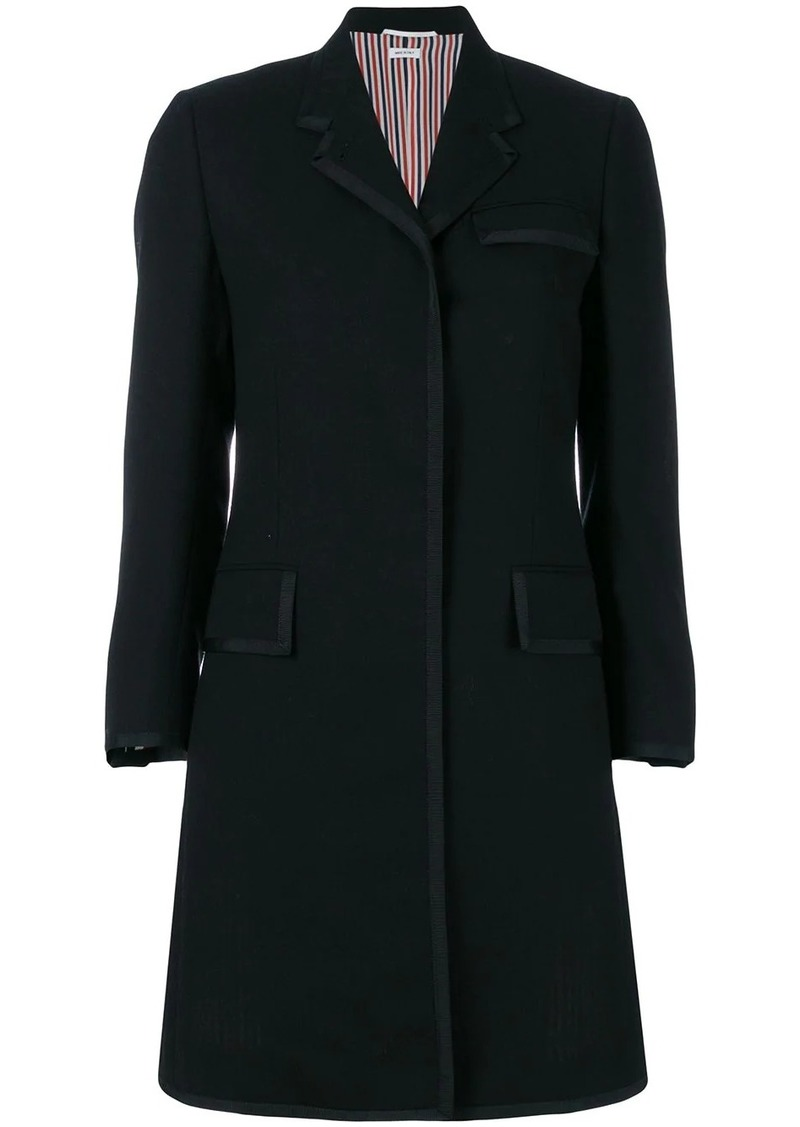 Thom Browne Classic Chesterfield grosgrain tipping coat