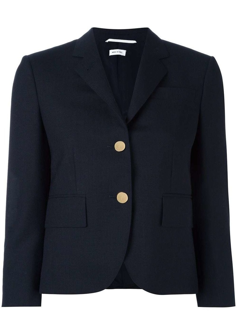 Thom Browne Classic Single Breasted Sport Coat In Navy 2-Ply Wool Fresco