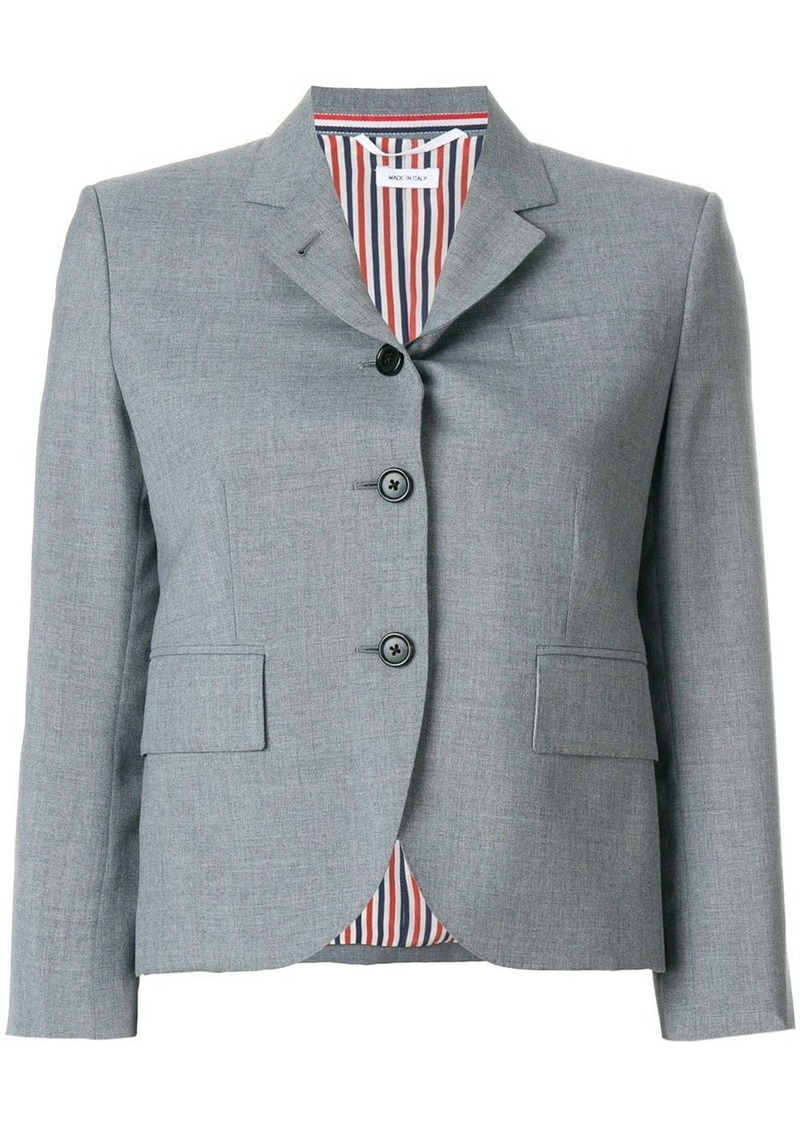 Thom Browne Classic Single Breasted Sport Coat In School Uniform Plain Weave