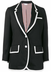 Thom Browne contrast-trim sports blazer